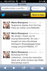 Sharapva and Twitter: A match made in promotional heaven